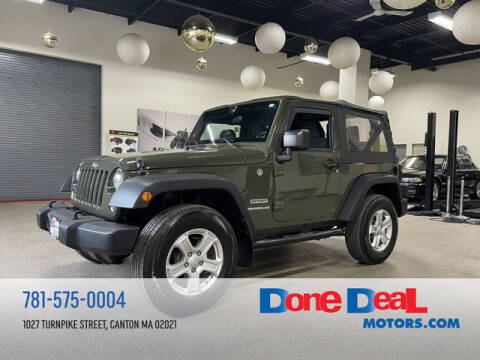 2015 Jeep Wrangler for sale at DONE DEAL MOTORS in Canton MA