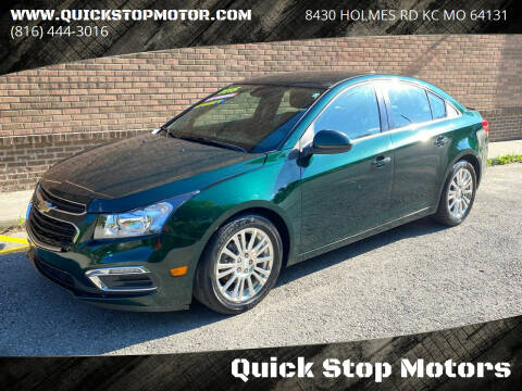 2015 Chevrolet Cruze for sale at Quick Stop Motors in Kansas City MO
