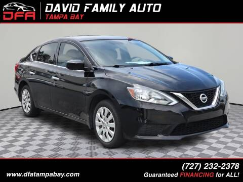 2017 Nissan Sentra for sale at David Family Auto in New Port Richey FL