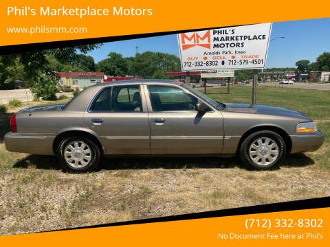 2005 Mercury Grand Marquis for sale at Phil's Marketplace Motors in Arnolds Park IA