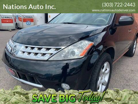2007 Nissan Murano for sale at Nations Auto Inc. in Denver CO