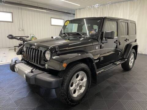 2015 Jeep Wrangler Unlimited for sale at Monster Motors in Michigan Center MI