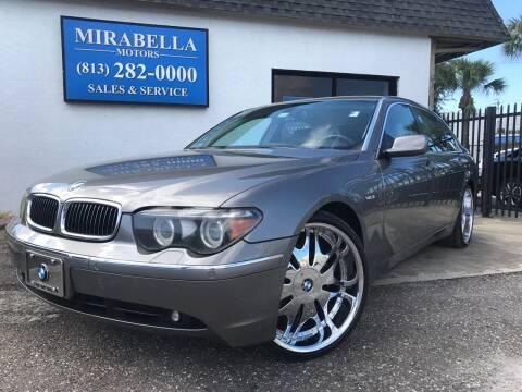 2005 BMW 7 Series for sale at Mirabella Motors in Tampa FL