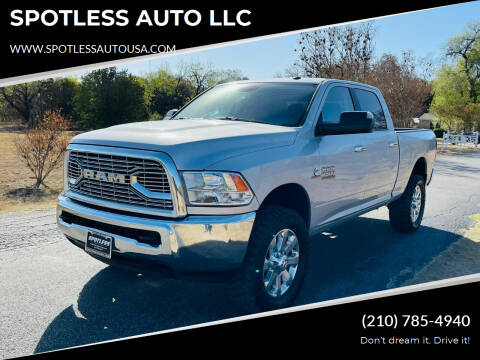 2016 RAM Ram Pickup 2500 for sale at SPOTLESS AUTO LLC in San Antonio TX