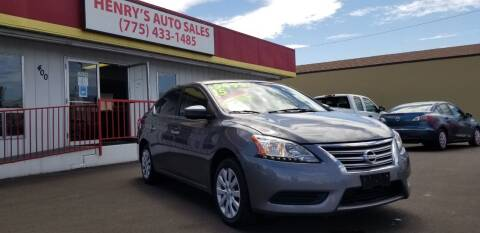 2015 Nissan Sentra for sale at Henry's Autosales, LLC in Reno NV