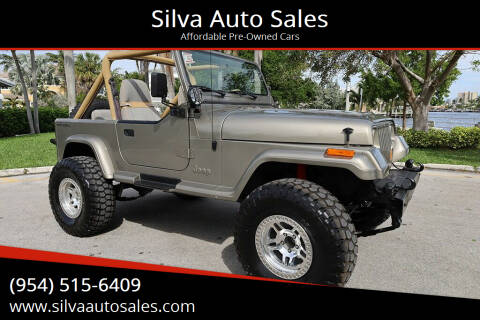1988 Jeep Wrangler for sale at Silva Auto Sales in Pompano Beach FL