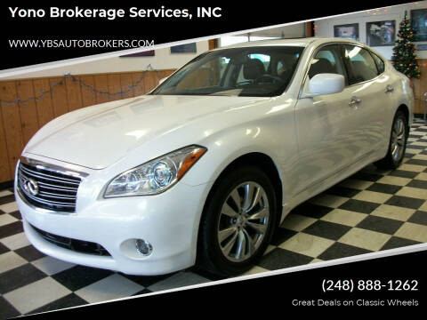 2013 Infiniti M37 for sale at Yono Brokerage Services, INC in Farmington MI