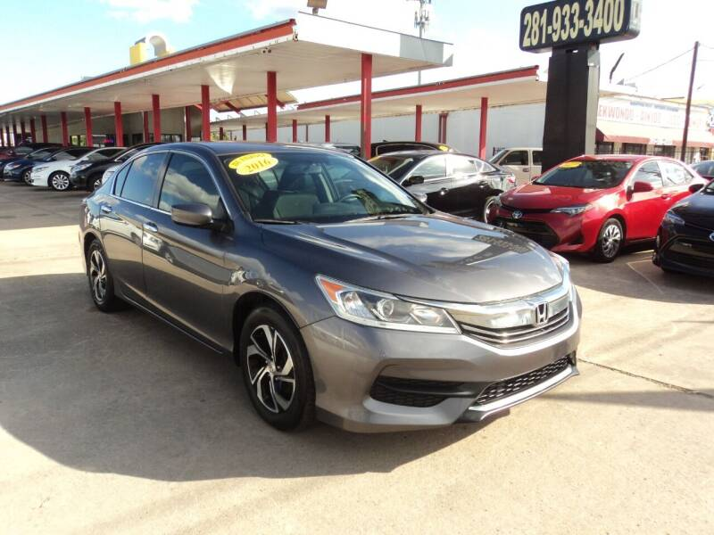 2016 Honda Accord for sale at Auto Selection of Houston in Houston TX