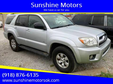 2007 Toyota 4Runner for sale at Sunshine Motors in Bartlesville OK