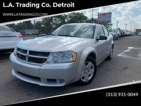 2009 Dodge Avenger for sale at L.A. Trading Co. Detroit in Detroit MI
