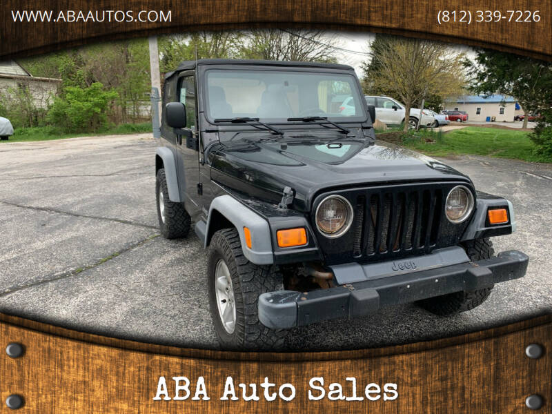 2003 Jeep Wrangler for sale at ABA Auto Sales in Bloomington IN