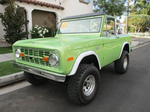 1973 Ford Bronco for sale at Valley Coach Co Sales & Lsng in Van Nuys CA