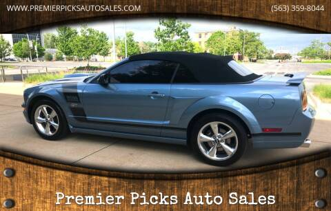 2007 Ford Mustang for sale at Premier Picks Auto Sales in Bettendorf IA