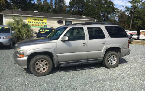 2005 Chevrolet Tahoe for sale at Carolina Car Country in Little River SC