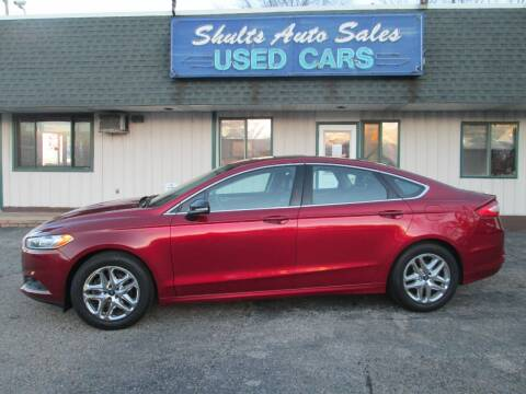 2013 Ford Fusion for sale at SHULTS AUTO SALES INC. in Crystal Lake IL