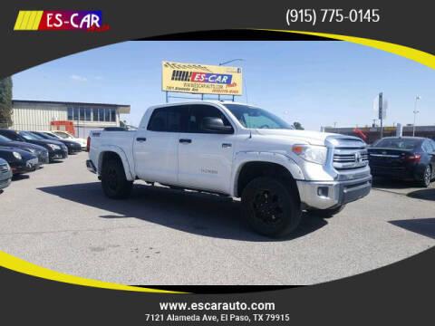 2016 Toyota Tundra for sale at Escar Auto - 9809 Montana Ave Lot in El Paso TX