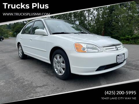 2002 Honda Civic for sale at Trucks Plus in Seattle WA