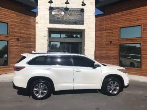 2015 Toyota Highlander for sale at Hamilton Motors in Lehi UT