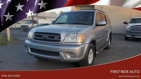 2002 Toyota Sequoia for sale at First Ride Auto in Sacramento CA