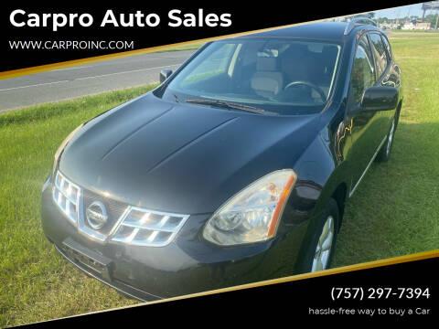 2011 Nissan Rogue for sale at Carpro Auto Sales in Chesapeake VA