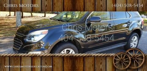 2016 Chevrolet Equinox for sale at Chris Motors in Decatur GA