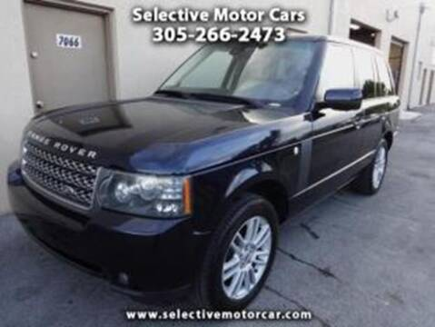 2010 Land Rover Range Rover for sale at Selective Motor Cars in Miami FL