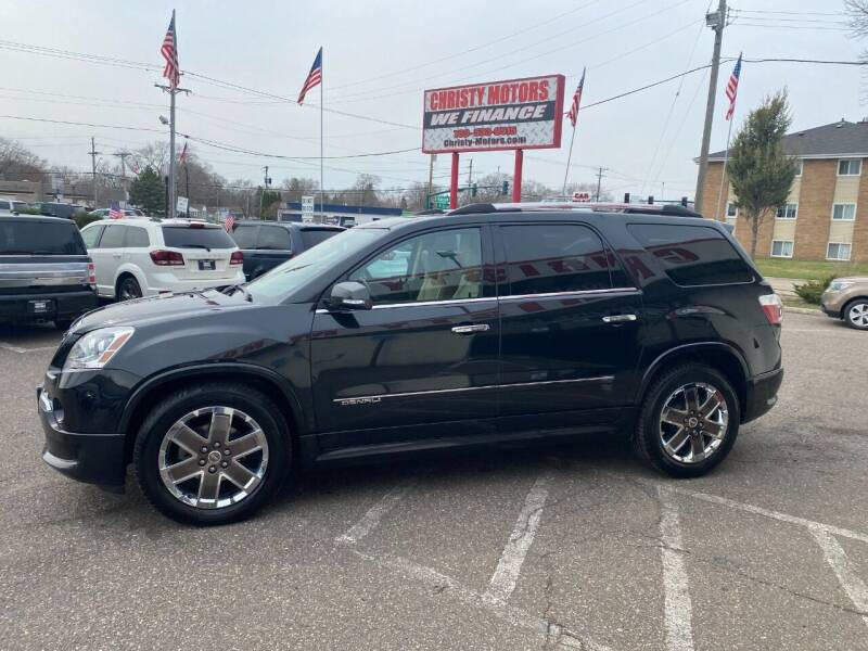 2012 GMC Acadia for sale at Christy Motors in Crystal MN