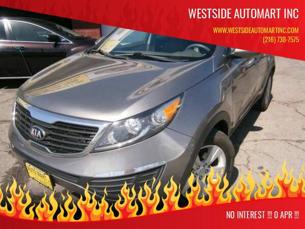 2013 Kia Sportage for sale at WESTSIDE AUTOMART INC in Cleveland OH