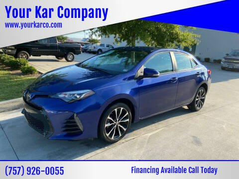 2017 Toyota Corolla for sale at Your Kar Company in Norfolk VA