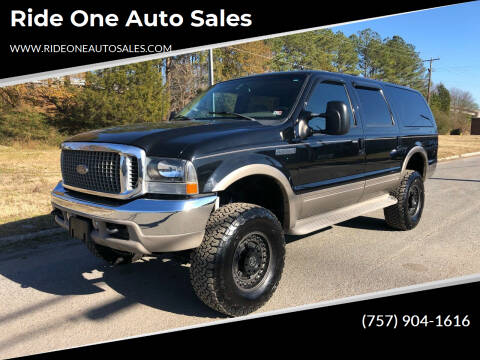 2001 Ford Excursion for sale at Ride One Auto Sales in Norfolk VA
