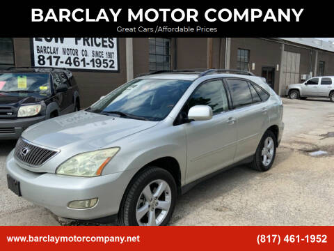 2004 Lexus RX 330 for sale at BARCLAY MOTOR COMPANY in Arlington TX
