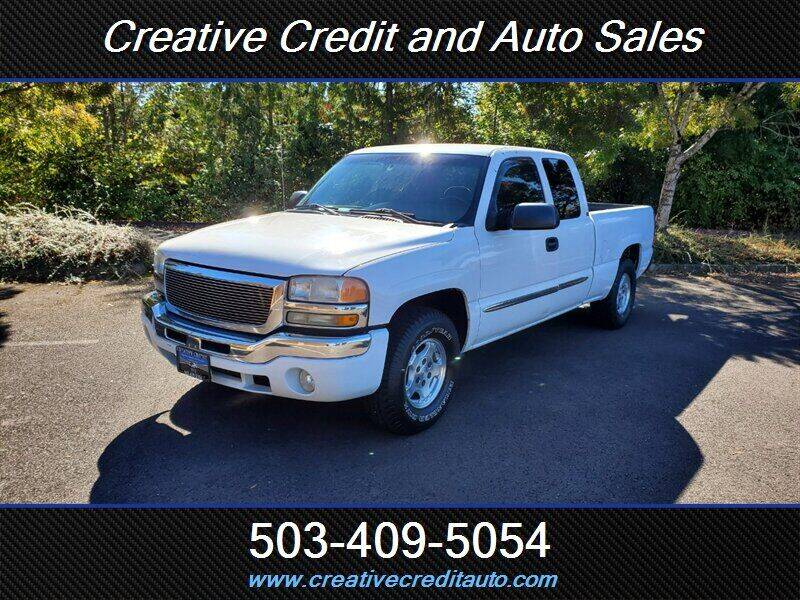 2004 GMC Sierra 1500 for sale at Creative Credit & Auto Sales in Salem OR