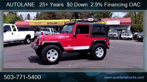 2000 Jeep Wrangler for sale at Auto Lane in Portland OR
