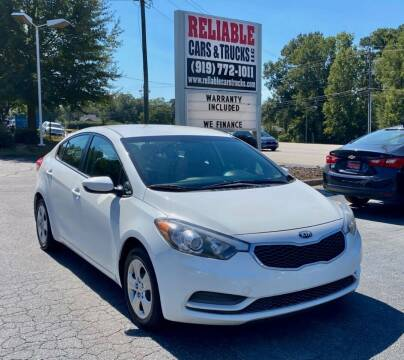 2016 Kia Forte for sale at Reliable Cars & Trucks LLC in Raleigh NC
