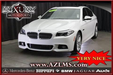 2015 BMW 5 Series for sale at Luxury Motorsports in Phoenix AZ