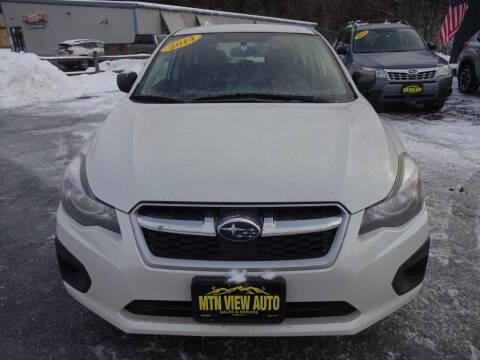 2014 Subaru Impreza for sale at MOUNTAIN VIEW AUTO in Lyndonville VT