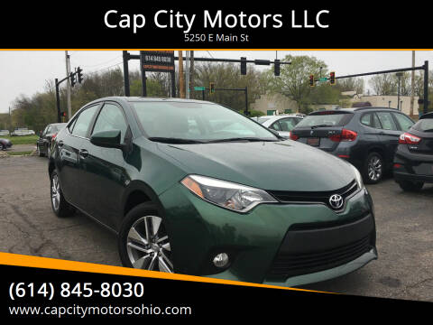 2014 Toyota Corolla for sale at Cap City Motors LLC in Columbus OH
