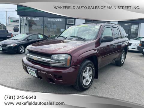 2006 Chevrolet TrailBlazer for sale at Wakefield Auto Sales of Main Street Inc. in Wakefield MA