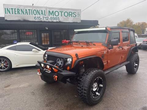 2011 Jeep Wrangler Unlimited for sale at International Motors Inc. in Nashville TN