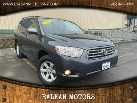 2010 Toyota Highlander for sale at BALKAN MOTORS in East Rochester NY