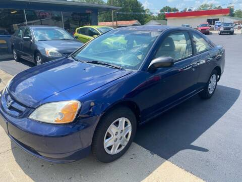 2003 Honda Civic for sale at Wise Investments Auto Sales in Sellersburg IN