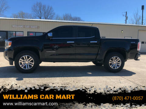 2016 GMC Canyon for sale at WILLIAMS CAR MART in Gassville AR