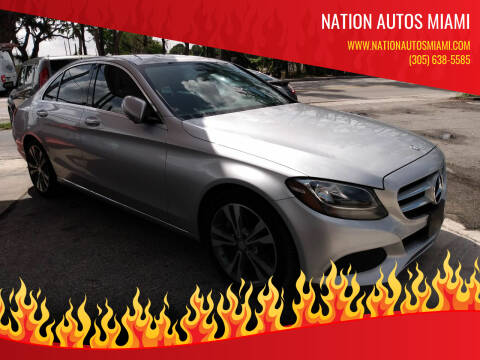 2016 Mercedes-Benz C-Class for sale at Nation Autos Miami in Hialeah FL