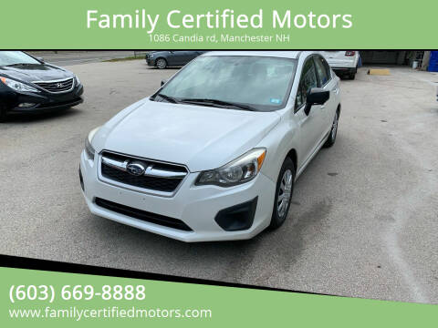 2013 Subaru Impreza for sale at Family Certified Motors in Manchester NH