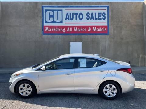 2016 Hyundai Elantra for sale at C U Auto Sales in Albuquerque NM