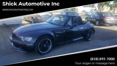 2000 BMW Z3 for sale at Shick Automotive Inc in North Hills CA