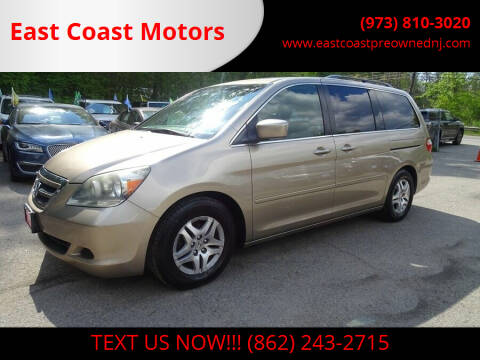 2005 Honda Odyssey for sale at East Coast Motors in Lake Hopatcong NJ