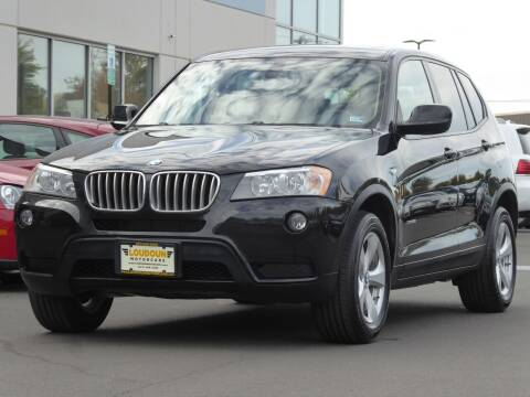2012 BMW X3 for sale at Loudoun Used Cars - LOUDOUN MOTOR CARS in Chantilly VA