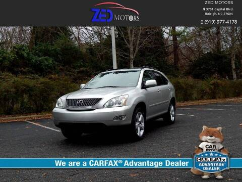2007 Lexus RX 350 for sale at Zed Motors in Raleigh NC