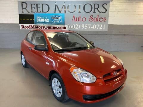 2009 Hyundai Accent for sale at REED MOTORS LLC in Phoenix AZ